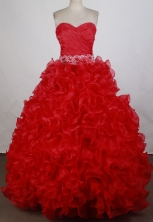 Gorgeous Ball gown Sweetheart-neck Floor-length Quinceanera Dresses Style FA-W-r34
