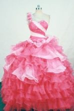 Luxurious Ball Gown One-shoulder Neck Floor-length Quinceanera Dresses Style FA-W-315