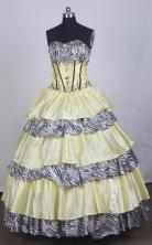 Luxurious Ball Gown Sweetheart Floor-length Yellow Quinceanera Dress LZ426010