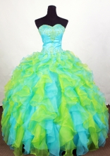 Luxuriously Ball Gown Sweetheart Floor-length Quinceanera Dress LHJ42708