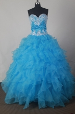 Luxury A-line Strapless Floor-length Taffeta    Quinceanera Dress Style X042604