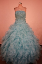 Luxury Ball Gown Strapless Floor-Length Quinceanera Dresses TD2467