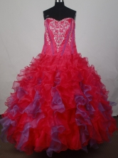 Luxury Ball Gown Strapless Floor-Length   Quinceanera Dresses Style JP42639