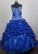 Luxury Ball Gown Straps Floor-length Quinceanera Dress ZQ12426090