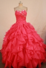 Luxury Ball Gown Sweetheart Floor-length Quinceanera Dresses Beading Style FA-Z-0312