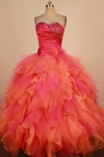 Luxury Ball Gown Sweetheart Neck Floor-Length Hot Pink Beading Quinceanera Dresses Style FA-S-251