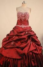 Luxury Ball Gown Sweetheart Neck Floor-Length Quinceanera Dresses TD2472