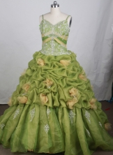 Luxury Ball gown Strap Floor-length Quinceanera   Dresses Style FA-W-r91