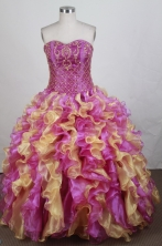 Luxury Ball gown Sweetheart Floor-length   Quinceanera Dresses Style FA-W-r37