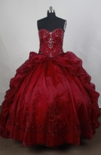 Luxury Ball gown Sweetheart Sweep Train   Quinceanera Dresses Style FA-W-r11