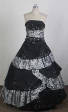 Modest Ball Gown Strapless Floor-length  Quinceanera Dress LZ426071