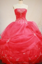 Perfect Ball Gown Strapless Floor-length Quinceanera Dresses Embroidery with Beading Style FA-Z-0207