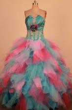 Popular Ball Gown Strapless Floor-Length Quinceanera Dresses TD2452
