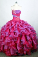 Popular Ball Gown Strapless Floor-length Quinceanera Dress Y042621