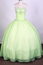 Popular Ball Gown Sweetheart Floor-length Green Quinceanera Dress Y042650