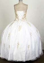 Popular Ball Gown Sweetheart Floor-length White Quinceanera Dress Y042642