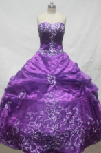 Pretty Ball Gown Sweetheart Floor-length Quinceanera Dresses Appliques Style FA-Z-0218