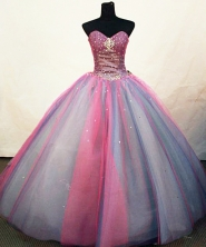 Pretty Ball Gown Sweetheart Floor-length Quinceanera Dresses Sequins Style FA-Z-0239