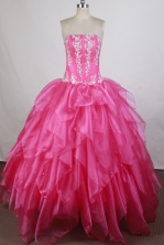 Pretty Ball gown StraplessFloor-length Quinceanera Dresses Style FA-W-r33
