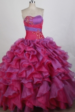 Romantic Ball gown Strapless Floor-length Quinceanera Dresses Style FA-W-r24