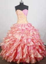 Romantic Ball gown Sweetheart  Floor-length Quinceanera Dresses Style FA-W-r10