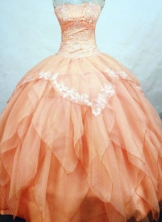 Wonderful Ball Gown Strapless Floor-length Quinceanera Dresses Style FA-W-307