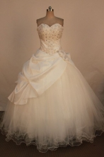 Affordable Ball Gown Strapless Floor-Length Quinceanera Dresses Style X042480