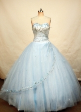 Beautiful Ball gown Sweetheart-neck Floor-length Quinceanera Dresses Style FA-W218