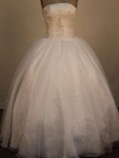 Brand new Ball Gown Strapless Floor-Length White Quinceanera Dresses Style LJ42491