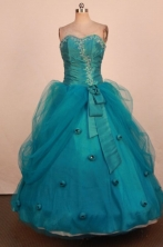 Brand new Ball Gown Sweetheart Neck Floor-Length Blue Quinceanera Dresses Style LJ42493