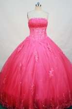 Cheap Ball gown Strapless Floor-length Quinceanera Dresses Style FA-W-250