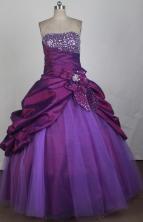 Classical Ball Gown Strapless Floor-length Quinceanera Dress LZ426011
