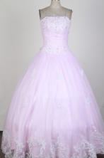 Classical Ball Gown Strapless Floor-length  Quinceanera Dress X0426025
