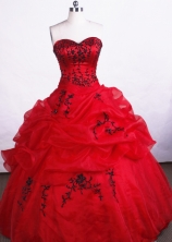 Discount Ball Gown Sweetheart-neck Floor-length Organza Quinceanera Dresses Style FA-C-060
