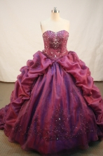 Exquisite Ball gown Strapless Sweep Train Quinceanera Dresses Style FA-W-227