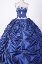 Fashionable Ball Gown Strapless Floor-length Beading Taffeta Quinceanera dress Style FAs-L-002