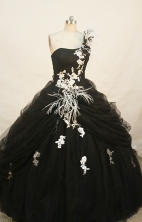 Gorgeous Ball gown One shoulder neck Floor-length Quinceanera Dresses Style FA-W-262
