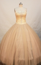 Lovely Ball gown Strapless Floor-length Quinceanera Dresses Style FA-W-252