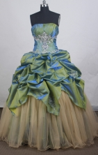 Lovely Ball gown Strapless Floor-length Quinceanera Dresses Style FA-W-r15