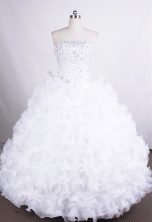 Luxurious Ball Gown Strapless Floor-length Organza Quinceanera Dresses Style FA-C-68