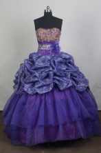 Modest Ball Gown Strapless Floor-length Quinceanera Dress ZQ12426083
