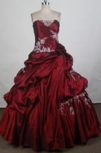 New Ball Gown Strapless Floor-length Quinceanera Dress ZQ12426067