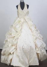 Popular Ball Gown Halter Top Floor-length Quinceanera Dress ZQ12426041