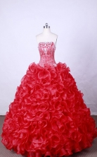 Popular Ball Gown Strapless FLoor-Length Hot Pink Beading And Appliques Quinceanera Dresses Style FA-S-102