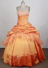 Popular Ball Gown Sweetheart Floor-length Quinceanera Dress LHJ42701