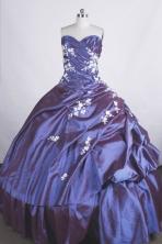 Popular Ball Gown Sweetheart-neck Floor-length Taffeta Quinceanera Dresses Style FA-C-054