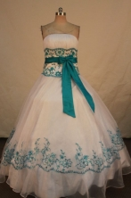 Popular Ball gown Strapless Floor-length Quinceanera Dresses Style FA-W-343