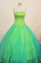Pretty Ball gown Strapless Floor-length Quinceanera Dresses Style FA-W-270
