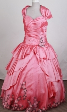 Pretty Ball gown Sweetheart Floor-length Quinceanera Dresses Style FA-W-r09