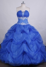 Romantic Ball gown Strapless Floor-length Organza Quinceanera Dresses Style FA-C-041